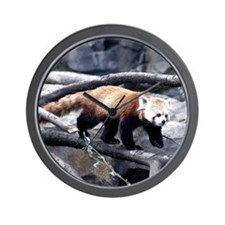Red Panda 3 Wall Clock