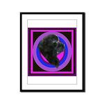 Newfoundland Profile Framed Panel Print