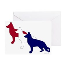 Patriotic_GSD Greeting Card