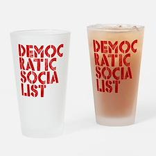 DEM-SOC-RED Drinking Glass