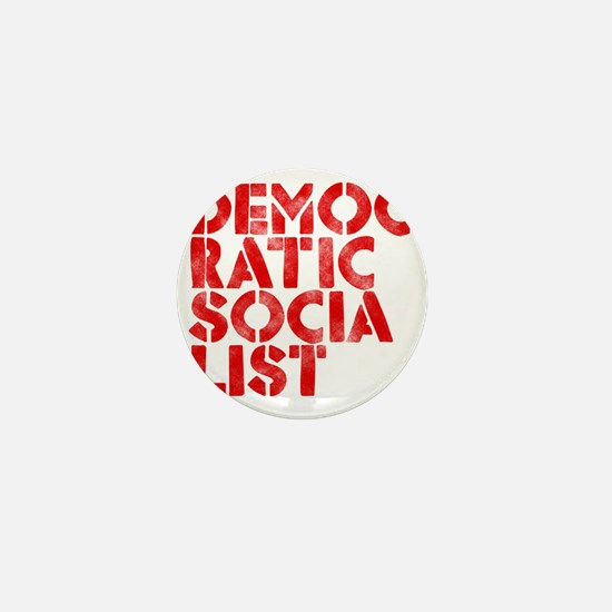 DEM-SOC-RED Mini Button