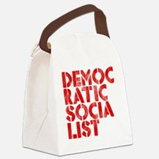 DEM-SOC-RED Canvas Lunch Bag