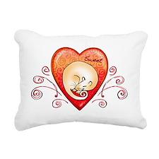 Sweet rat heart Rectangular Canvas Pillow