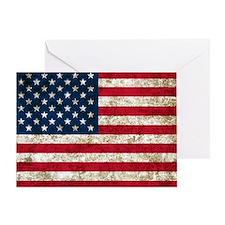USA Grunge Greeting Card
