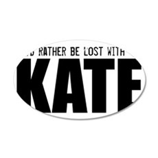 Lost with Kate Hat 35x21 Oval Wall Decal