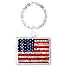 USA Grunge Landscape Keychain