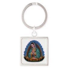 Lady of Guadalupe T1 Square Keychain