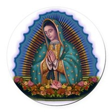 Lady of Guadalupe T1 Round Car Magnet