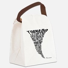 Cafepress Tornado Shirt 2011 Blac Canvas Lunch Bag