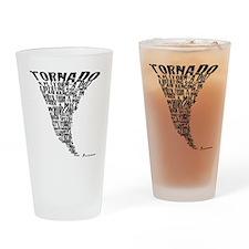 Cafepress Tornado Shirt 2011 Black  Drinking Glass