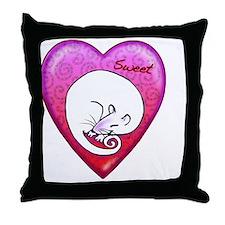 Sweet rat necklace Throw Pillow