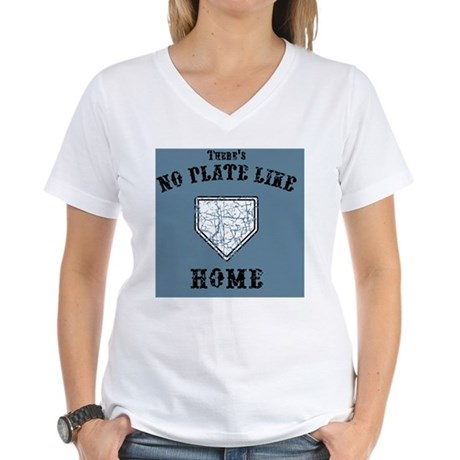 no-plate-like-BUT Women's V-Neck T-Shirt