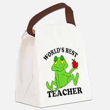 Frog Apple Canvas Lunch Bag
