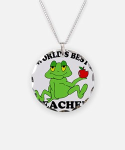 Frog Apple Necklace