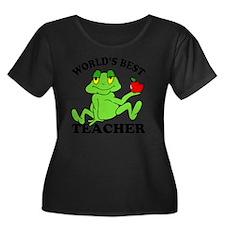 Frog App Women's Plus Size Dark Scoop Neck T-Shirt