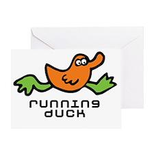 running_duck Greeting Card