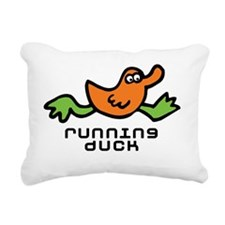 running_duck Rectangular Canvas Pillow