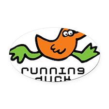 running_duck Oval Car Magnet