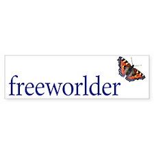 freeworlder-center Bumper Sticker
