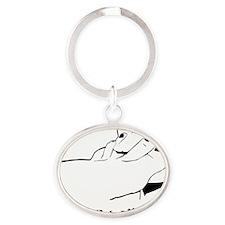 SuckToes Oval Keychain