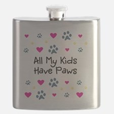 All My Kids Have Paws Flask