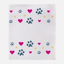 All My Kids Have Paws Throw Blanket