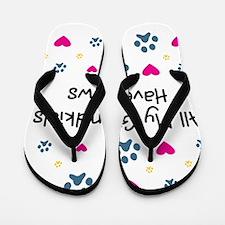 All My Grandkids Have Paws Flip Flops