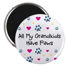 All My Grandkids Have Paws Magnet