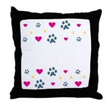 All My Grandkids Have Paws Throw Pillow