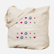 All My Grandkids Have Paws Tote Bag