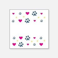 "All My Grandkids Have Paws Square Sticker 3"" x 3"""