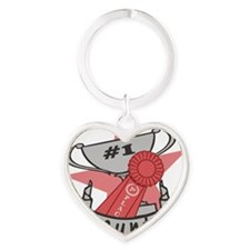 Worlds Best Aunt Heart Keychain