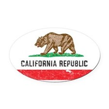 California_shirt Oval Car Magnet