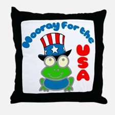 frog-USA Throw Pillow
