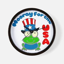 frog-USA Wall Clock