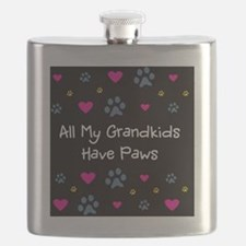 All My Grandkids Have Paws Flask