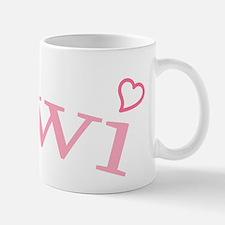"""Kiwi with Hearts"" Mug"