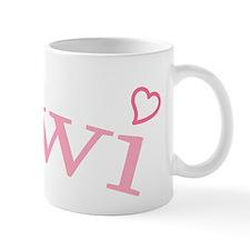 """Kiwi with Hearts"" Small Mug"
