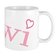 """Kiwi with Hearts"" Small Small Mug"