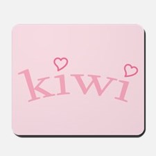 """Kiwi with Hearts"" Mousepad"