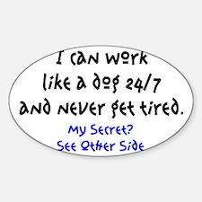 WORK-DOG Cafe Sticker (Oval)