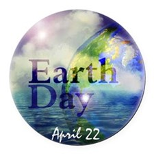 EarthDay555 Round Car Magnet