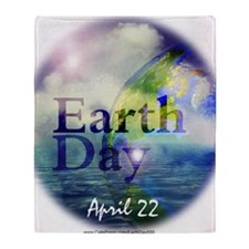 EarthDay555 Throw Blanket
