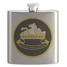 8th-Cavalry-round-charm Flask