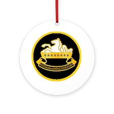 8th-Cavalry-round-charm Round Ornament