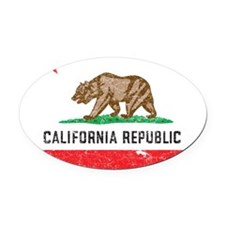 California_product Oval Car Magnet