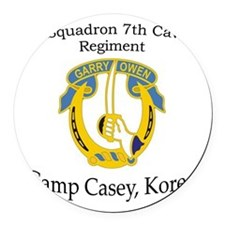 4th Squadron 7th Cavalry Round Car Magnet