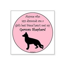 "GBF_German Shepherd Square Sticker 3"" x 3"""