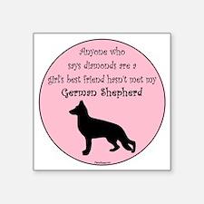 "GBF_German Shepherd Square Sticker 3"" x 3"""
