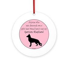 GBF_German Shepherd Round Ornament